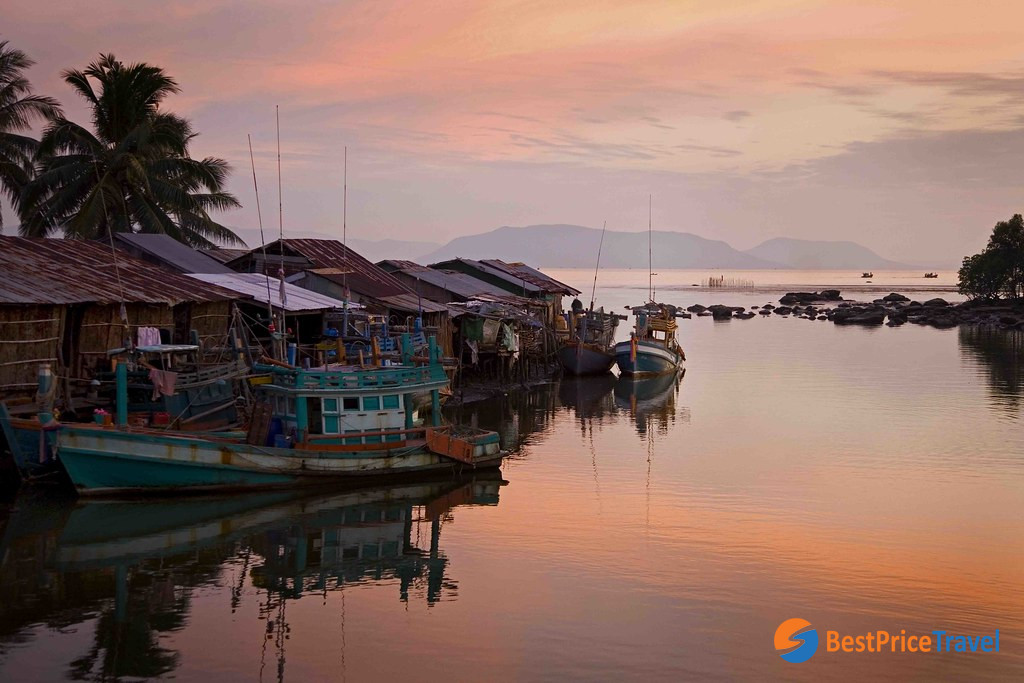 Fishing village in Kampot