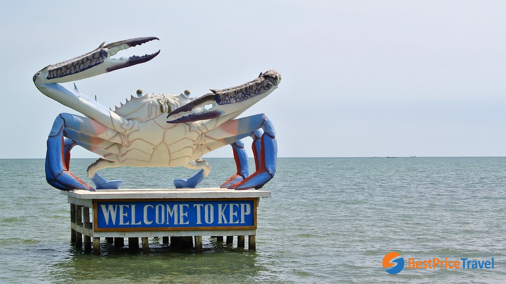 Kep town is synonymous with crabs