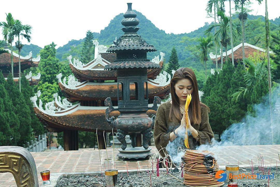 Tourists usually go to Perfume for a pray