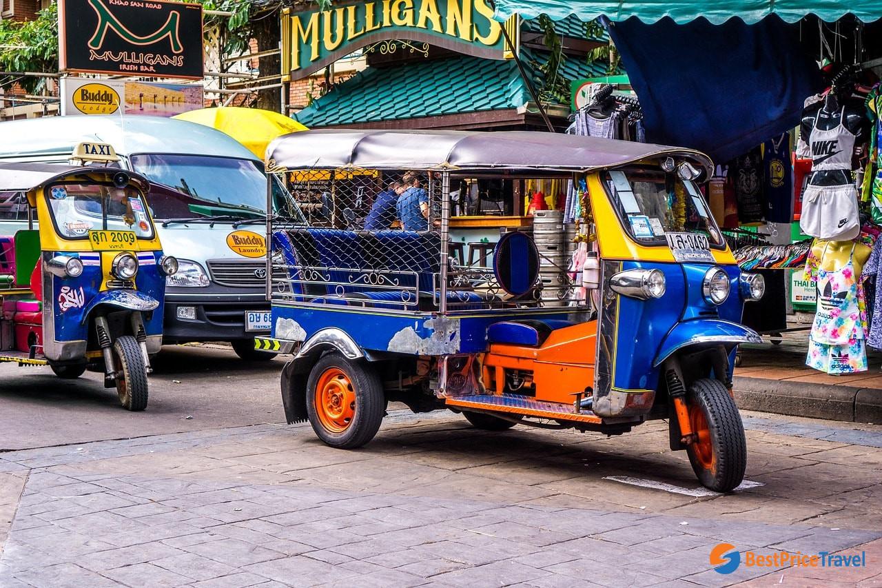 Tuk-tuk is popular transportation in Bangkok