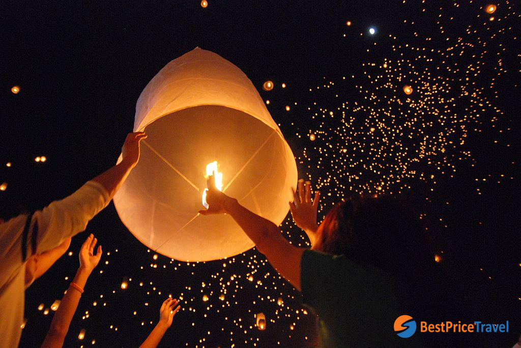 Lantern Festival in Chiang Rai