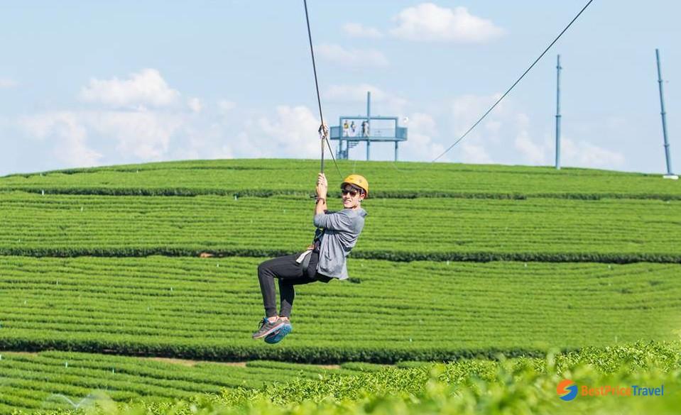 Fantastic ziplines in Singaha Park