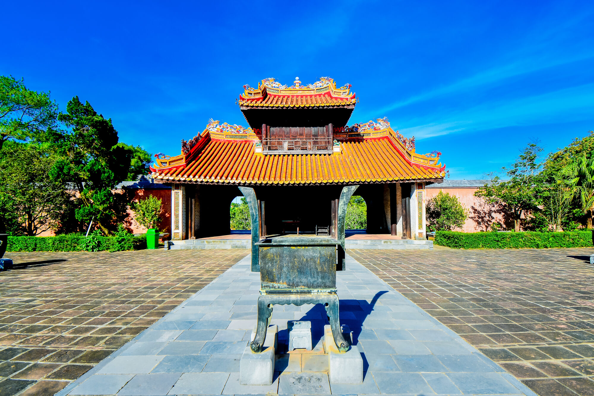Ceremonial Courtyard Flanked With Statues, Tu Duc Tomb