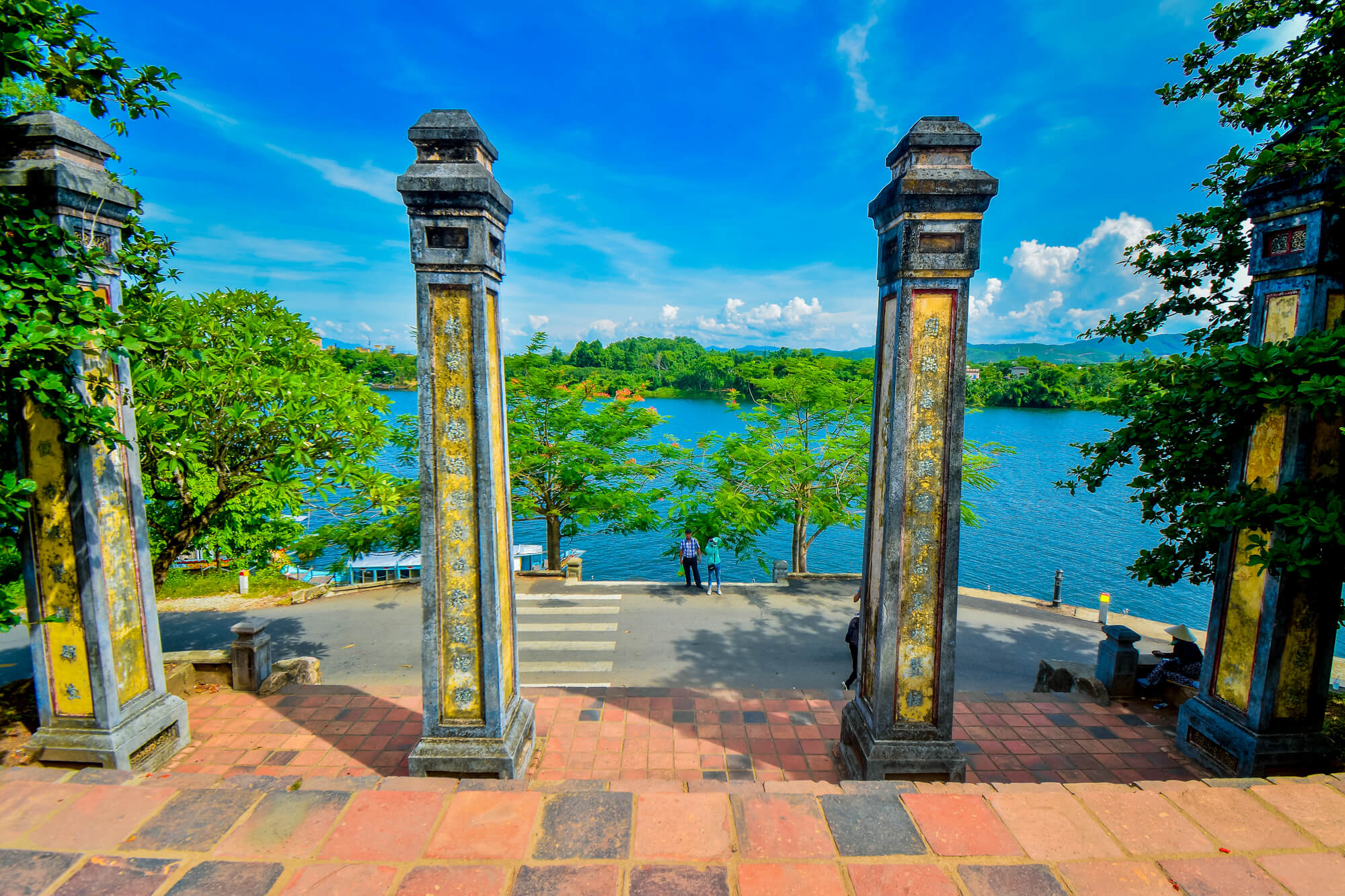 Perfume River infront of Thien Mu Pagoda
