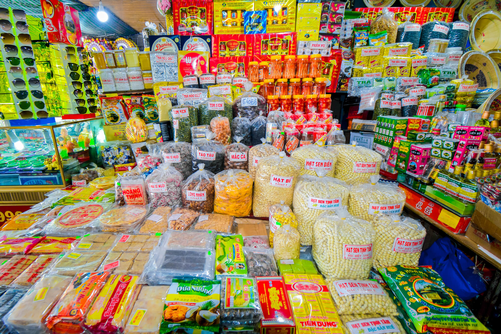 Products in Dong Ba Market
