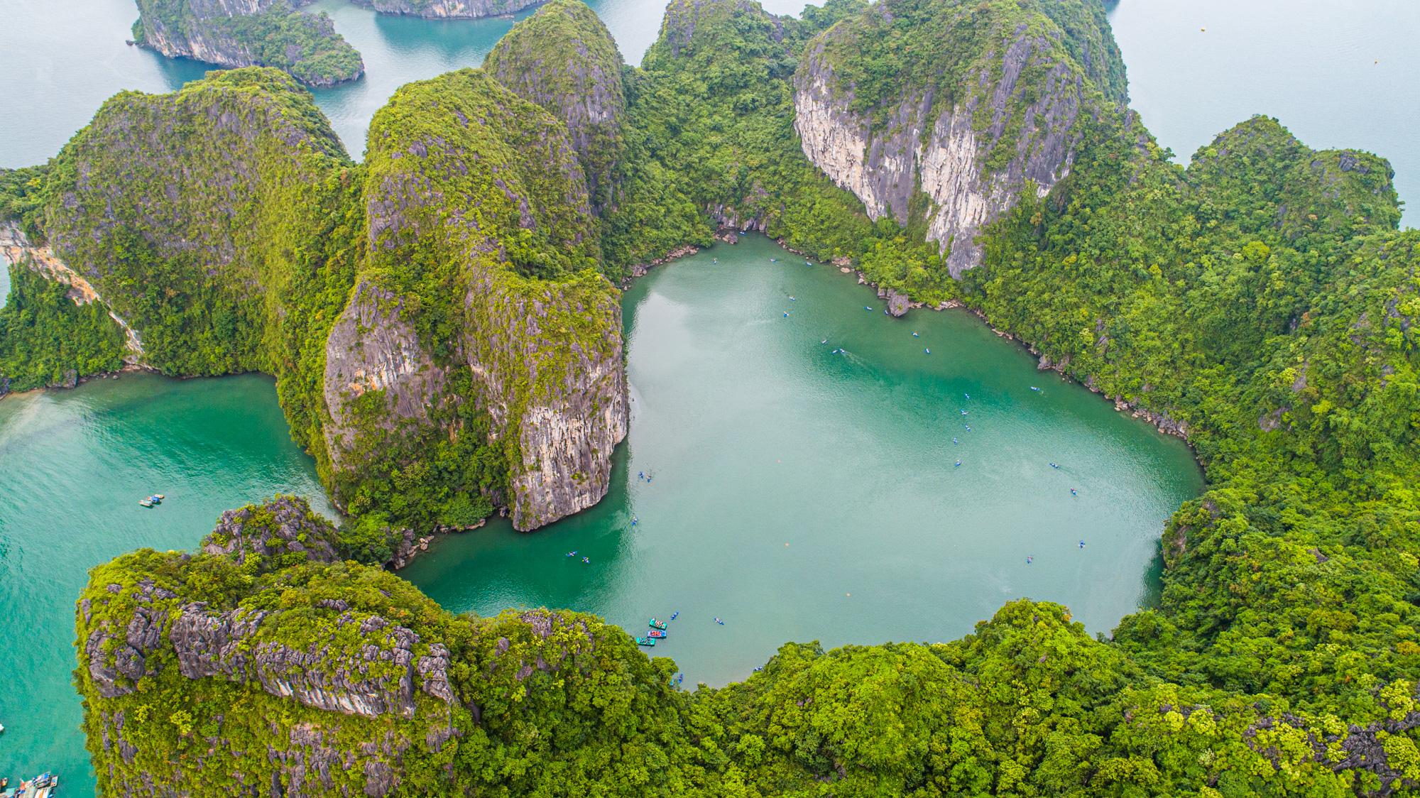 Bai Tu Long Bay from Above