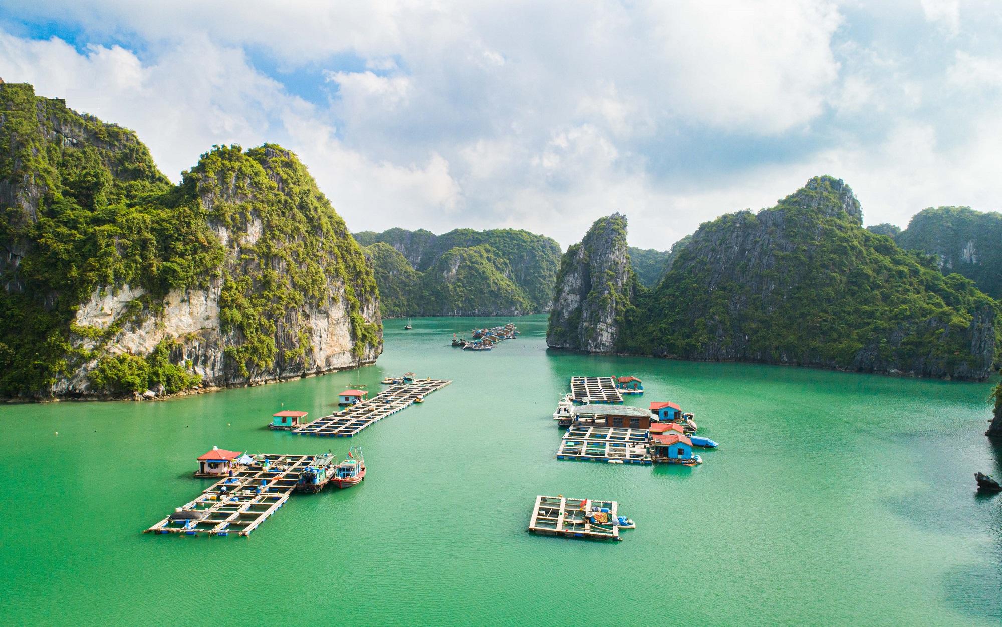 Floating Village in Lan Ha Bay