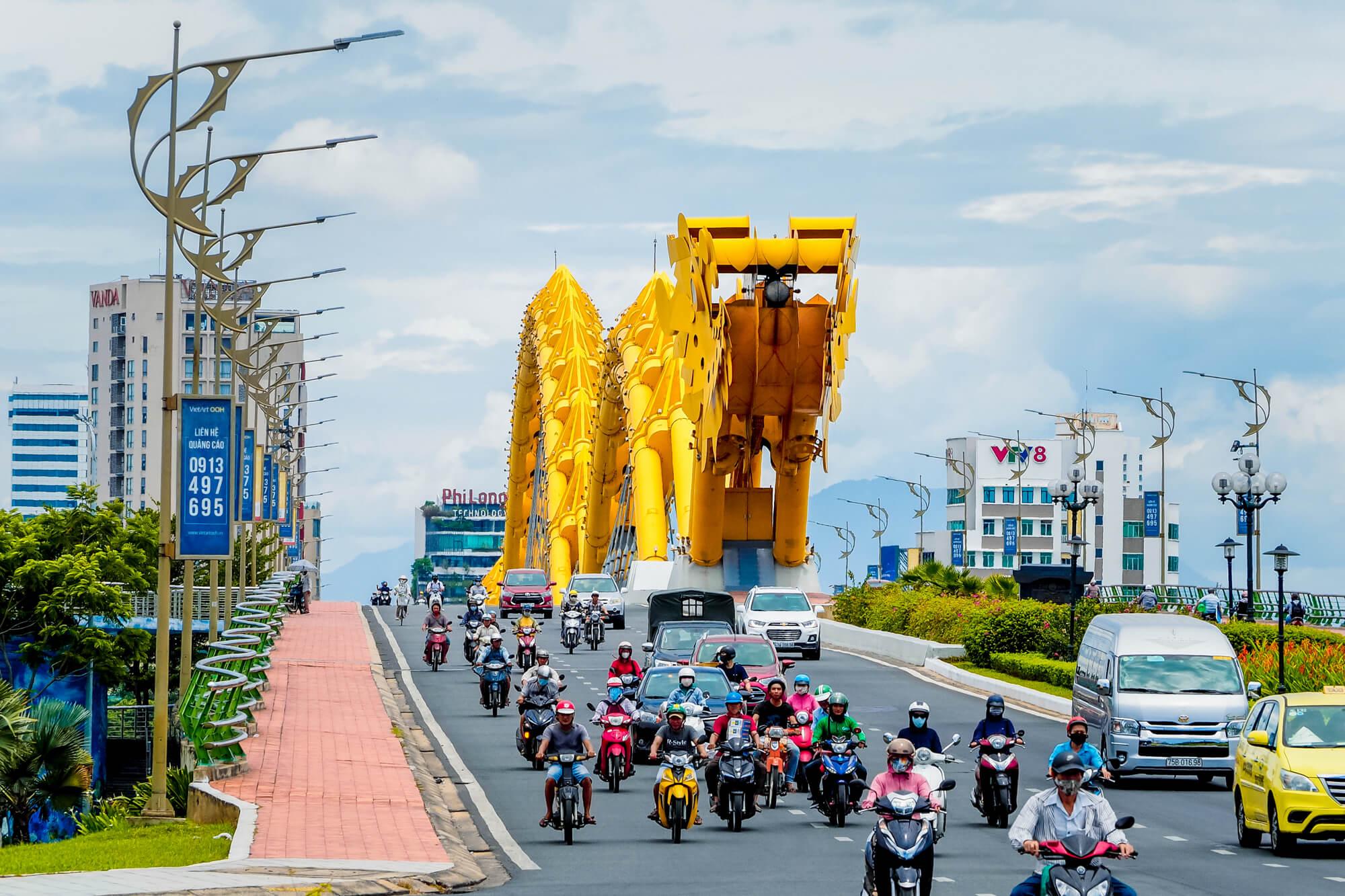 Motorbike is popular in Da Nang