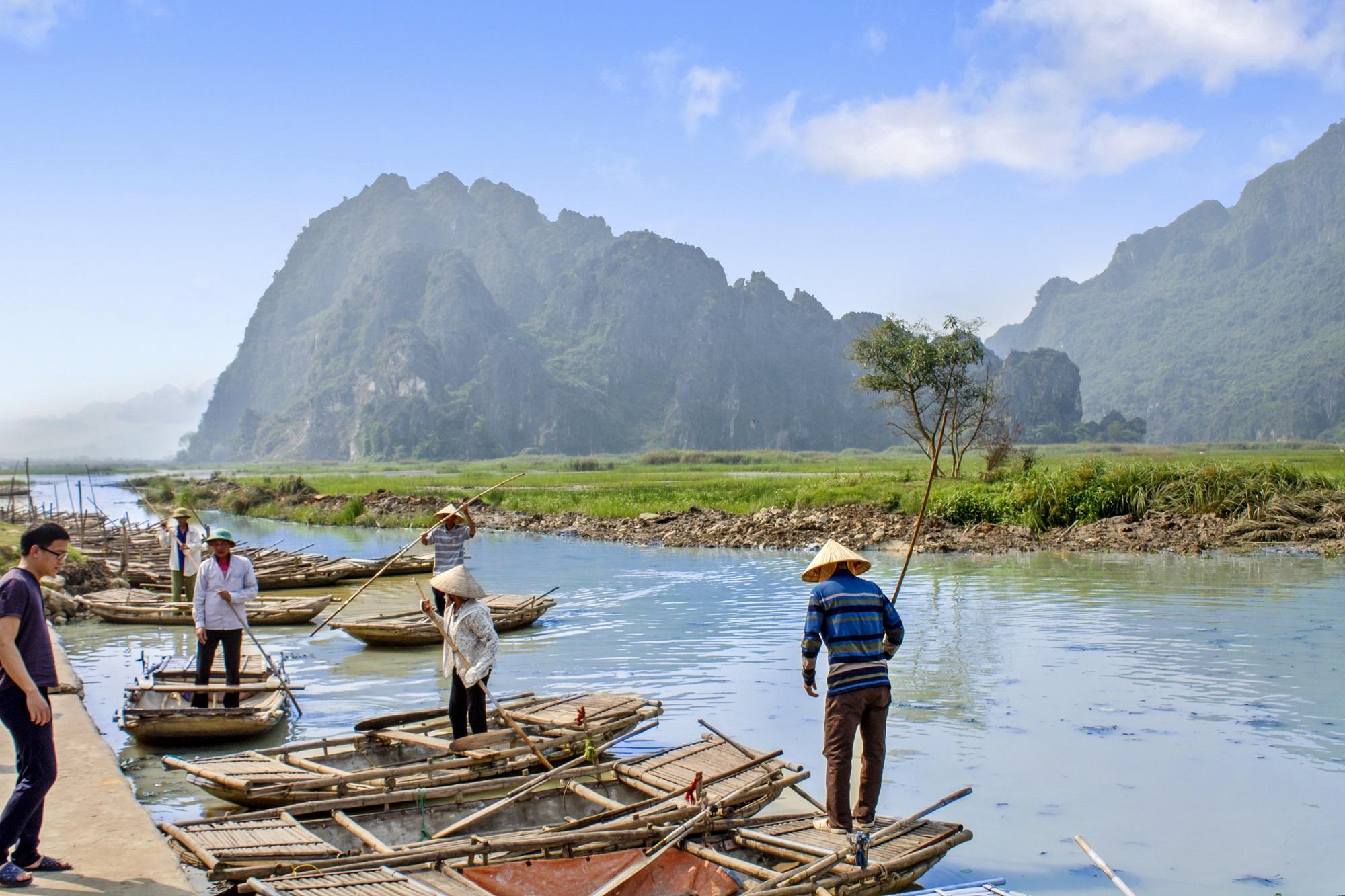 Boat Dock in Van Long Natural Reserve
