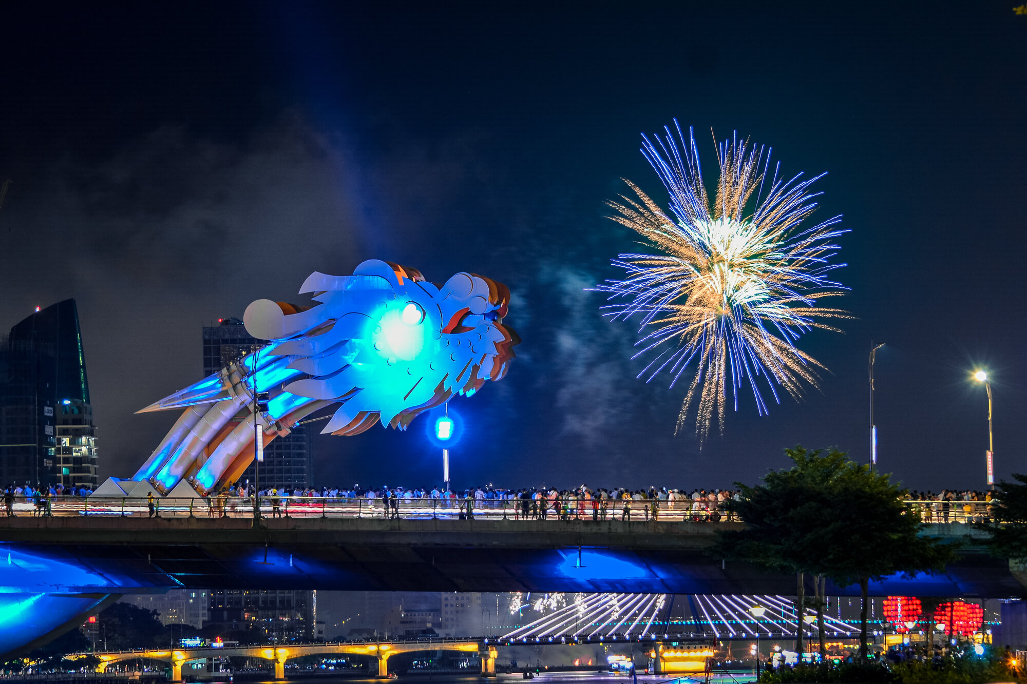Fireworks at Dragon Bridge