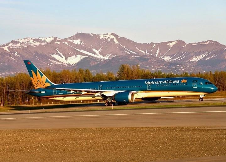 Vietnam Airlines flight to Vietnam