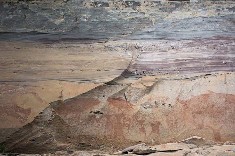 Prehistoric Cave Paintings At Pha Taem National Park
