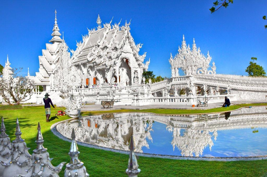 Impressive beauty of wat rong khun