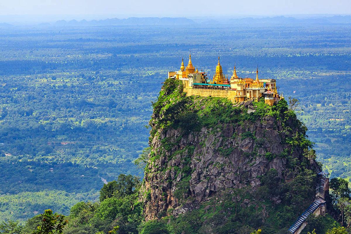 Impressive view of Mount Popa