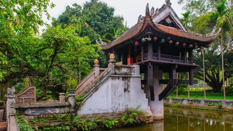 Unique Architecture of One Pillar Pagoda
