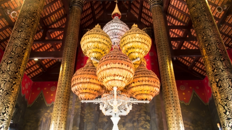 Interior Art Royal Palace Museum Luang Prabang