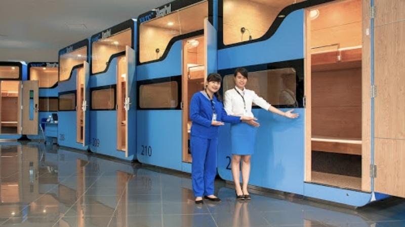 Sleeping pod in Noi Bai Airport