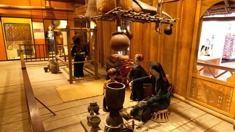 Display inside sapa culture museum