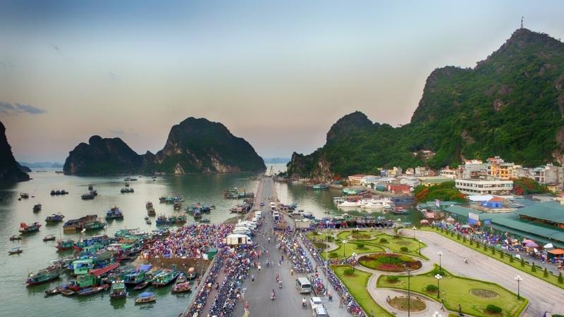 Many cruise depart from Hon Gai Harbor