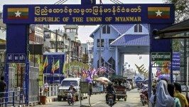 Myanmar's land borders with other countries