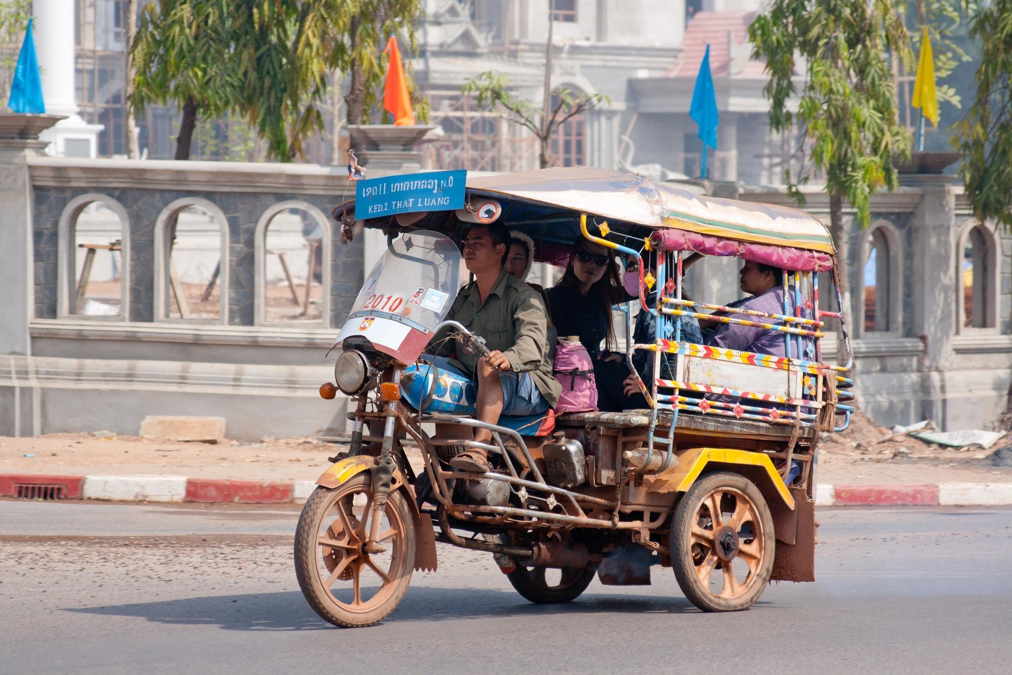 Travel in Laos by Tuk Tuk