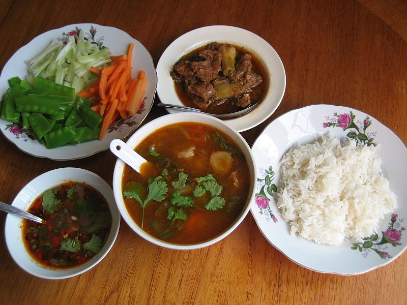 A Traditional Burmese Meal