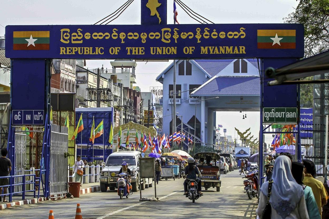 Tachileik Border Post, Myanmar
