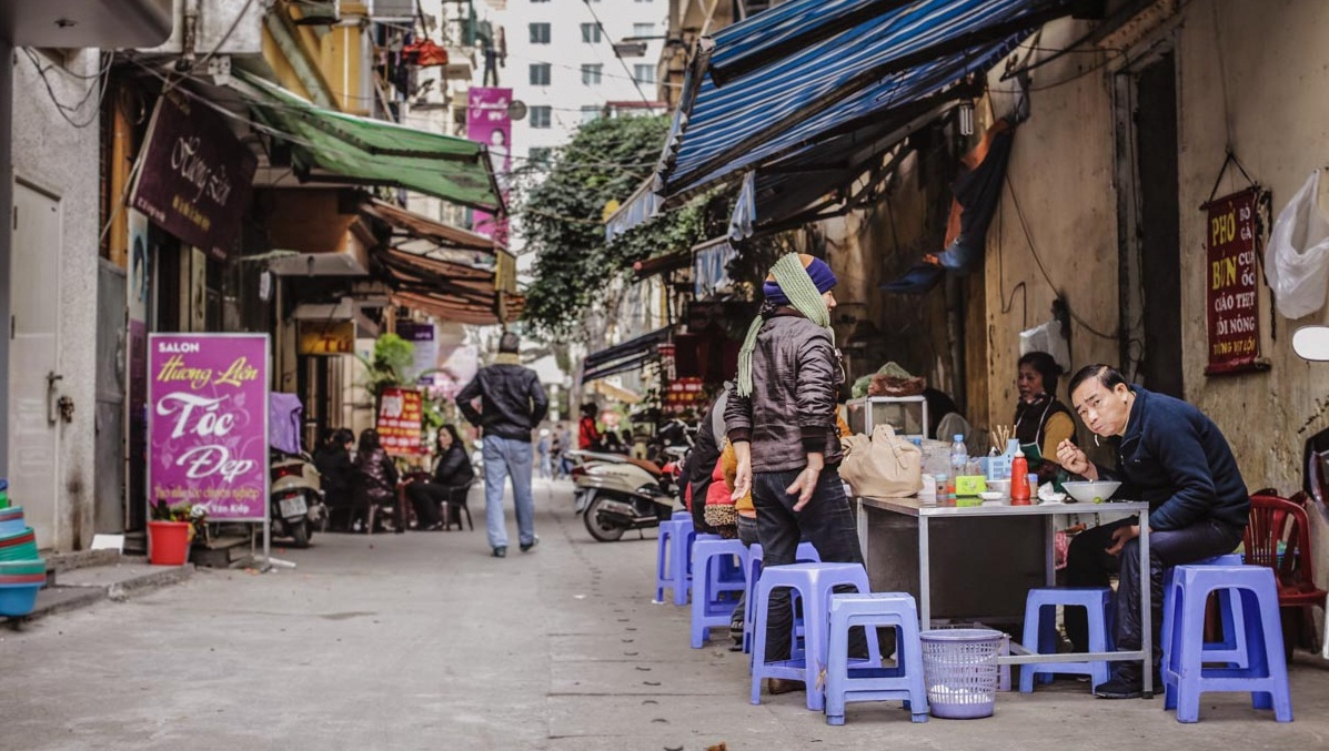 Locals Eating Hanoi Street Food