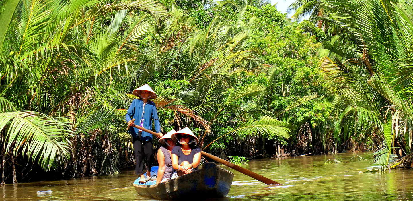 Leisurely Boat Trip Along narow canals
