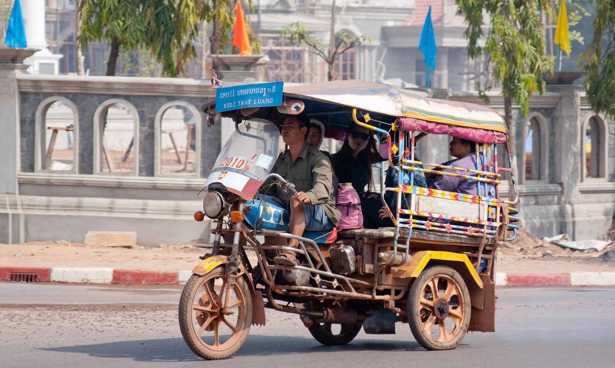 Tuk-tuk in Vientiane