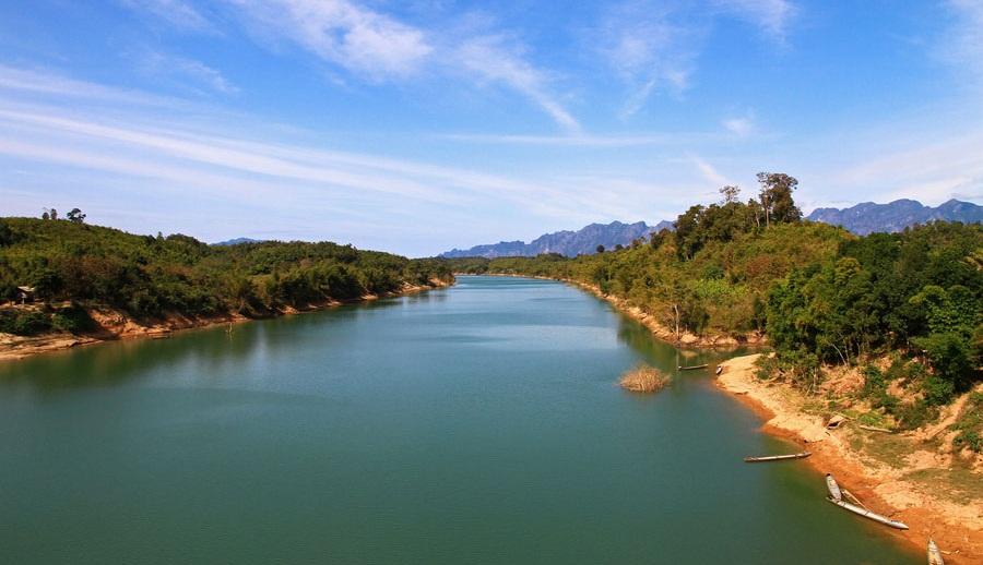 Part of Mekong River in Laos
