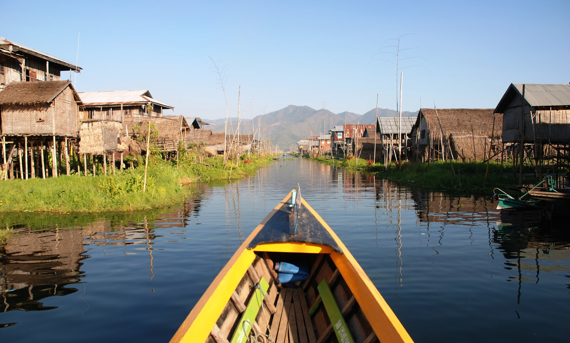 Explore Inle Lake on a boat