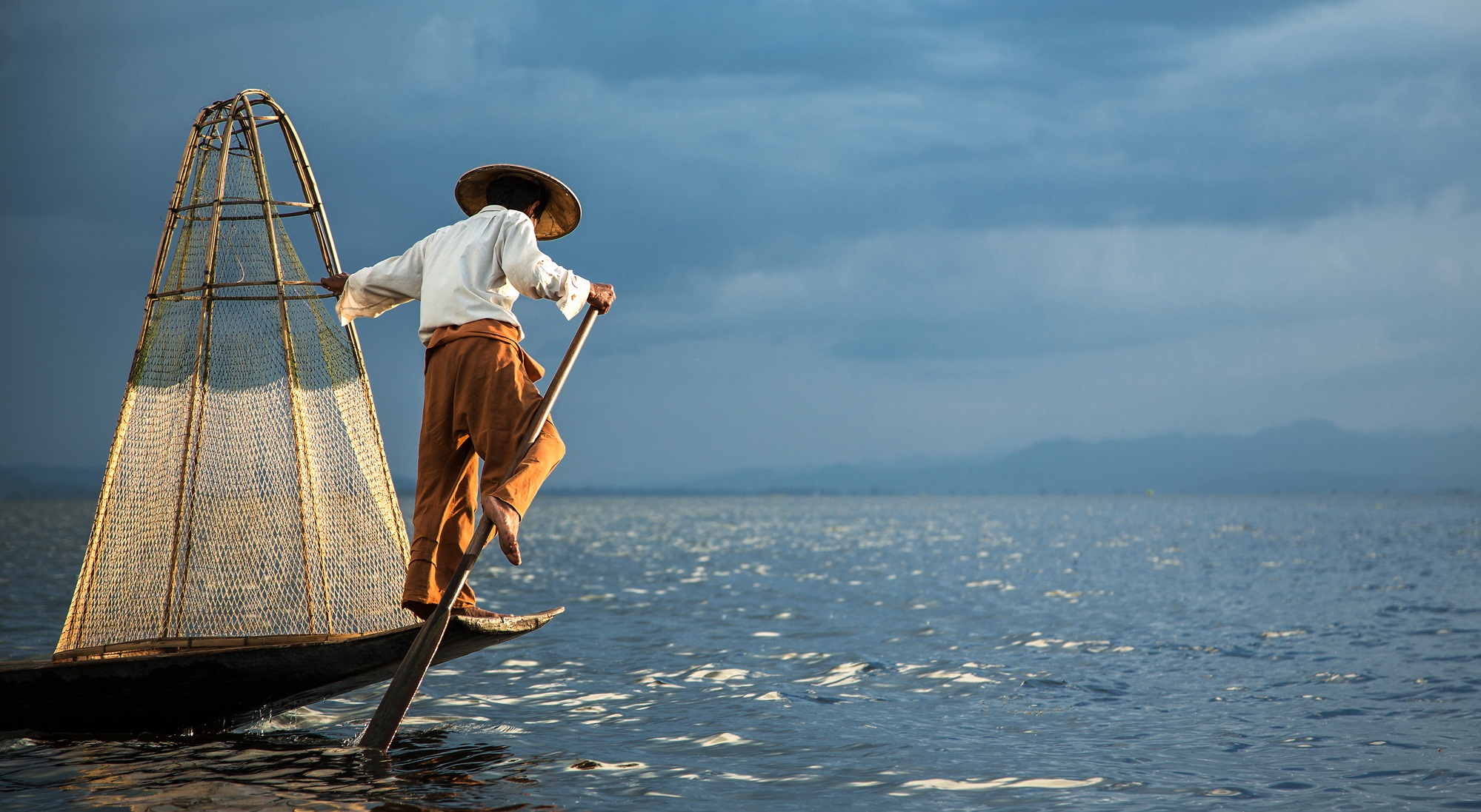 Intha leg rowers have fished this way for generations