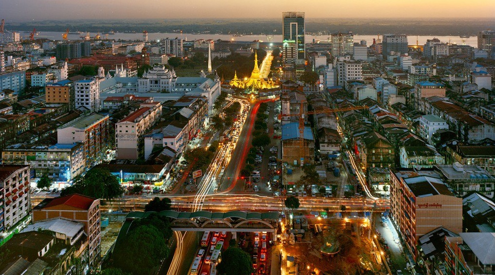 Yangon is the most vibrant city in Myanmar