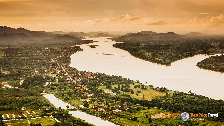A part of Mekong River from above