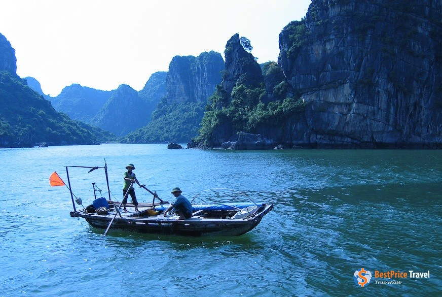 Rowboats have been around since early history -  Vietnam Boat Trip