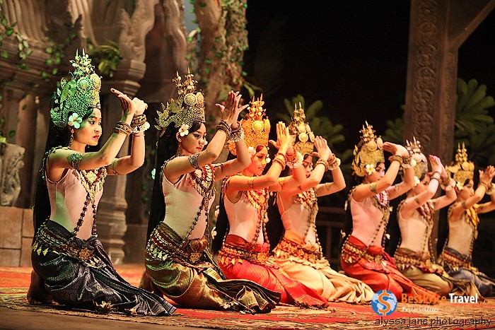 Traditional Apsara dance of the Cambodians water festivals