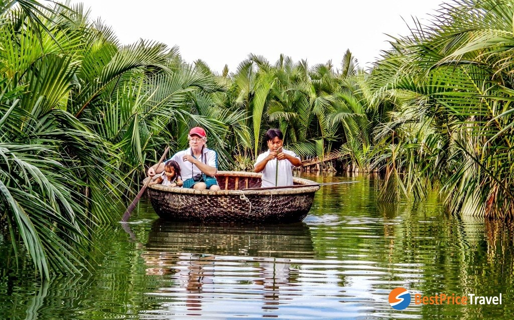 Discover world of nipa palm by bamboo basket boat - most interesting activity in cam thanh village