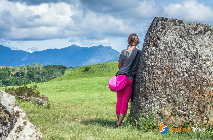 The vibe around the Plain of Jars is eerie and somber