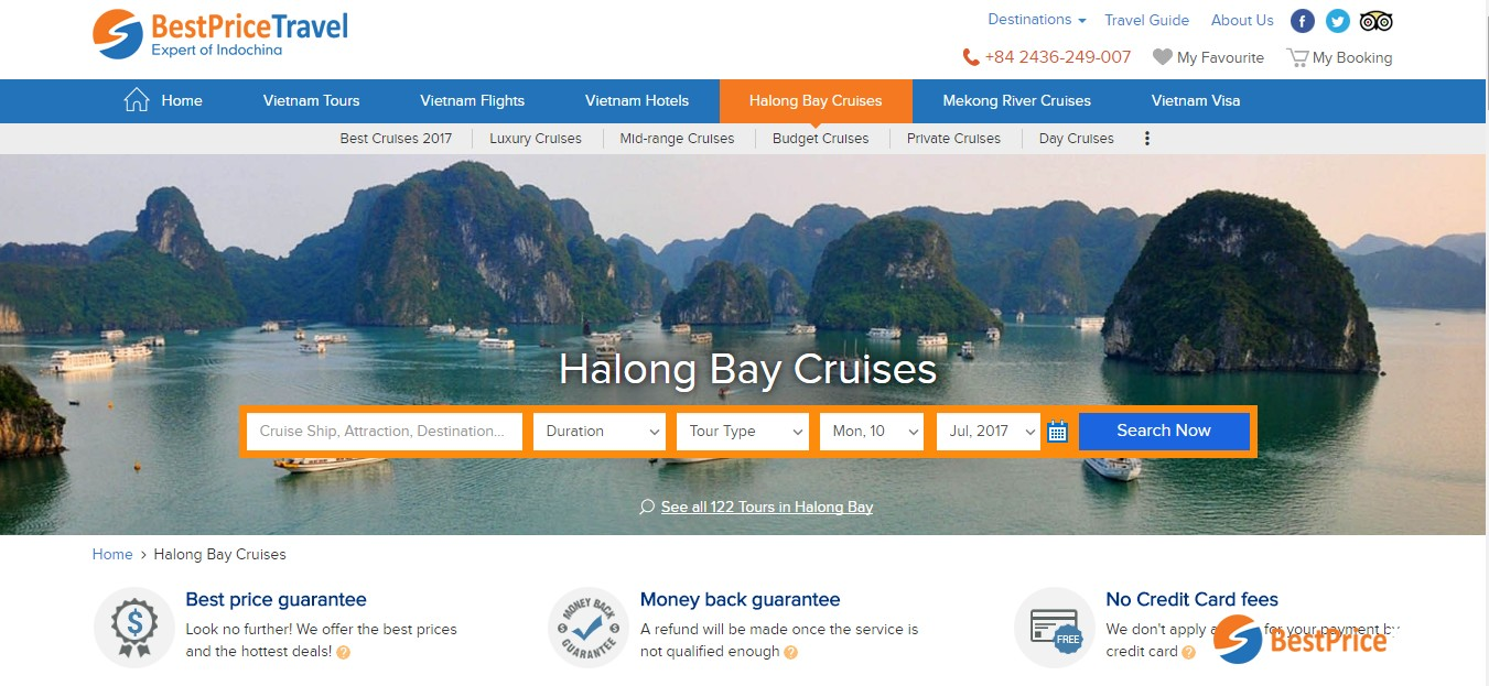 avoid scams for online booking for Halong Bay Cruises