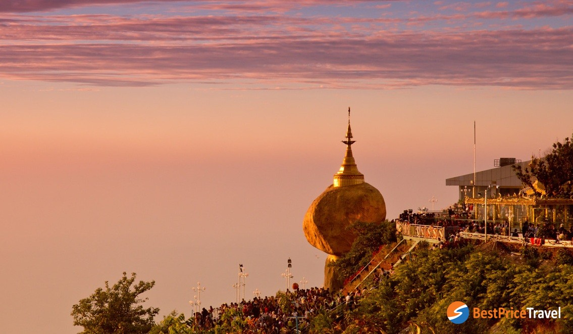 Golden Rock is one of Buddhism's most endeared prayer site