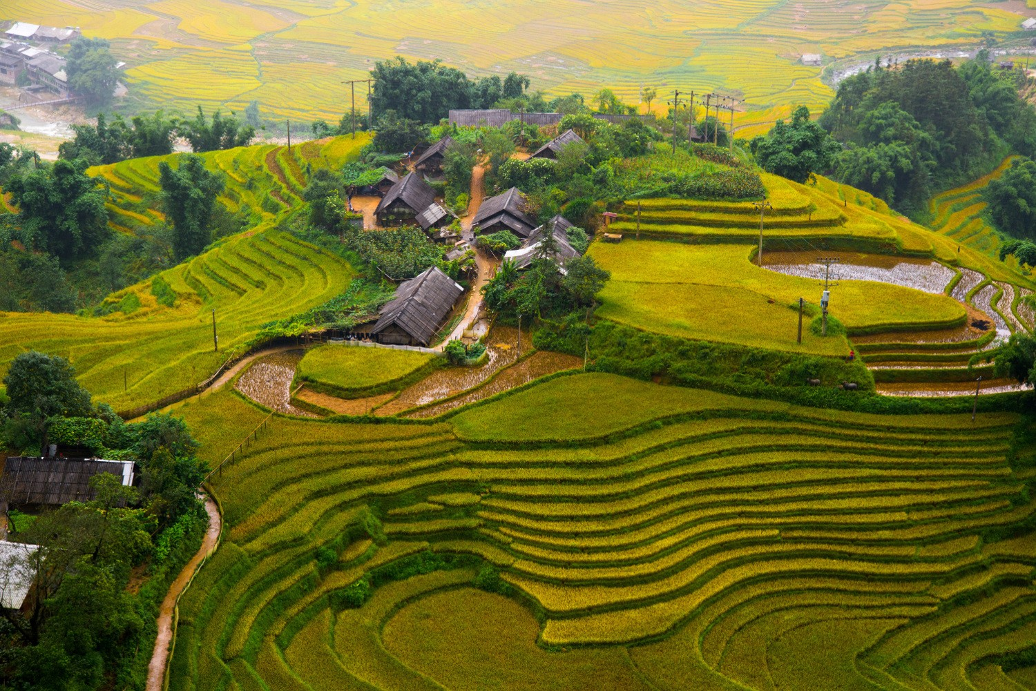 Sapa is famous tourist attraction for beautiful rice terraces, imposing mountain landscape and unique tribal customs