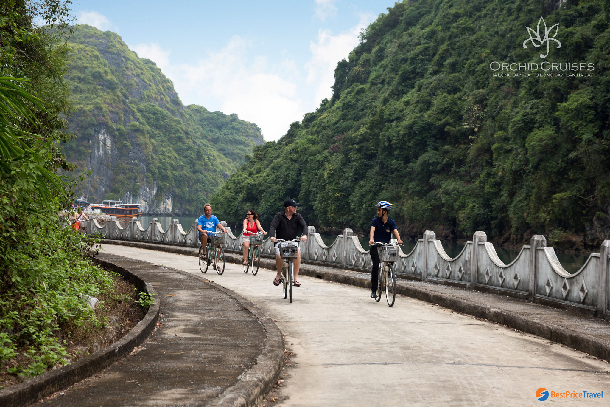 Biking in Cat Ba Island