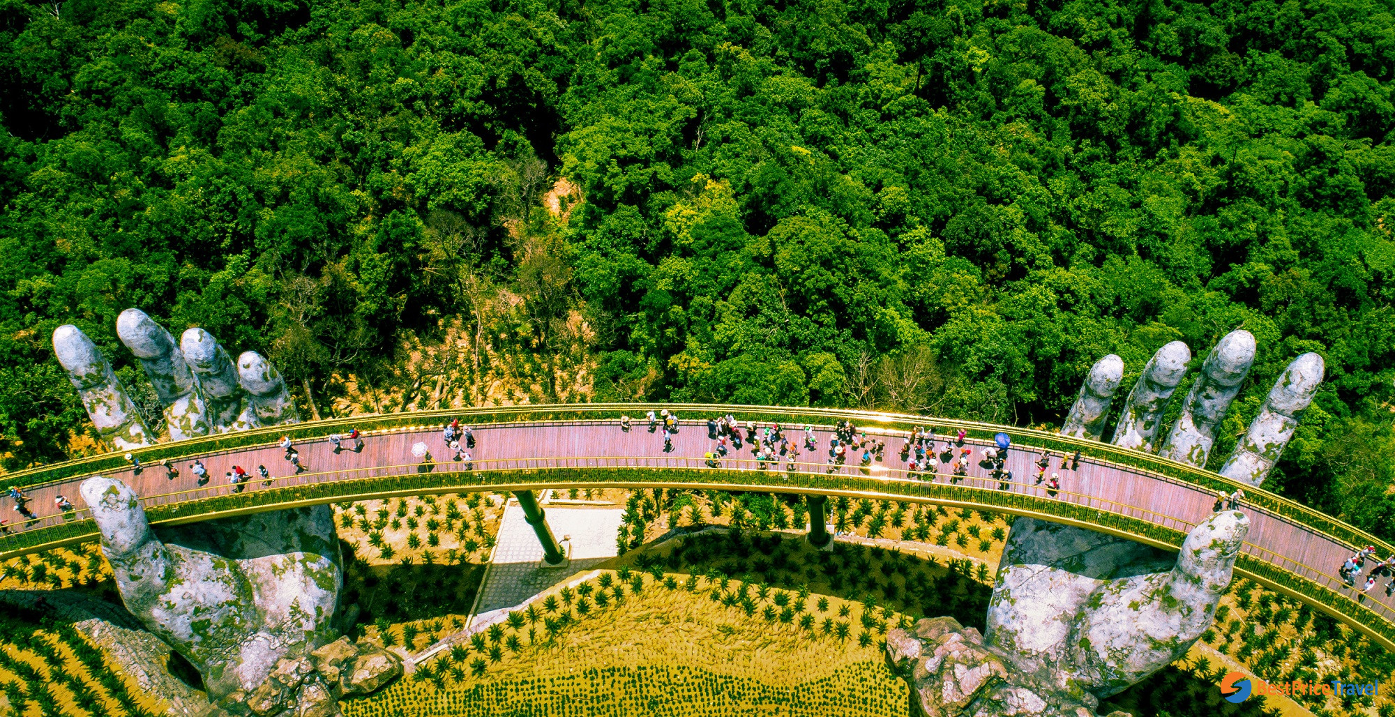 Golden Bridge from above