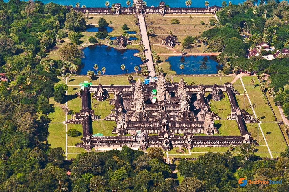Angkor Wat from above -  5 Must-see Attractions in Indochina 2020
