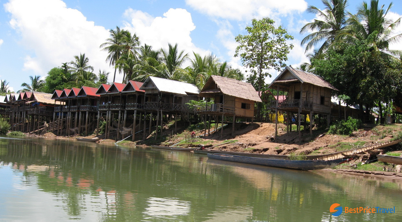 Houses in Don Khone Island -  5 Must-see Attractions in Indochina 2020