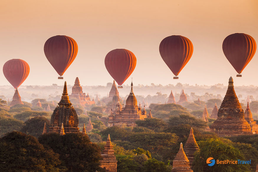 Bagan's Hot Air Balloon -  5 Must-see Attractions in Indochina 2020