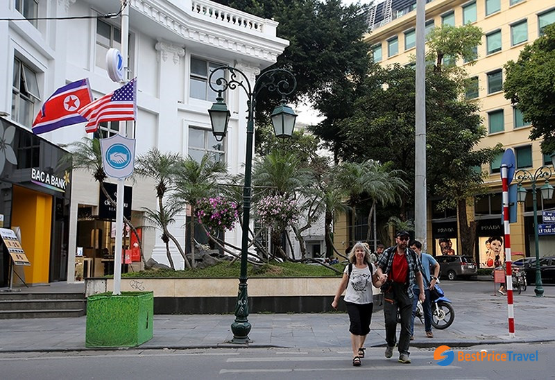A street corner in Hanoi