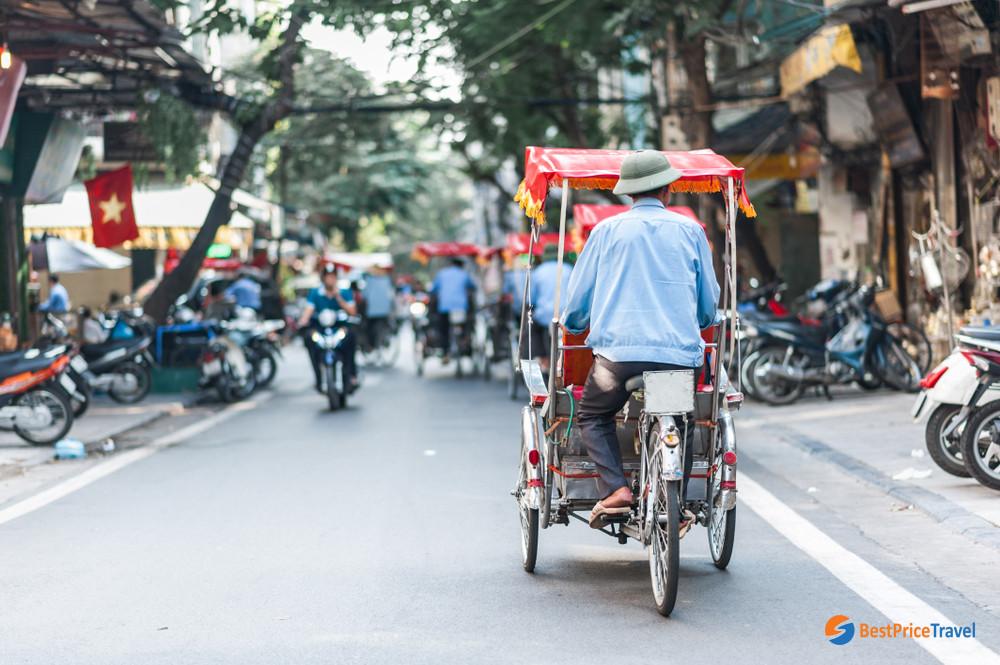 Cyclo in Hanoi Old Quarter