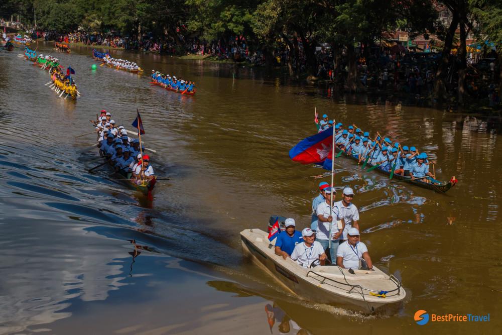 Cambodia boat racing